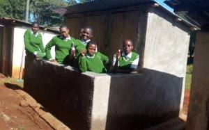The Water Project : 33-kenya4653-finished-latrines