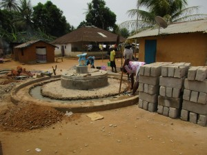 The Water Project : 33-sierraleone5104-well-pad-construction