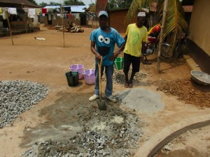The Water Project : 34-sierraleone5104-well-pad-construction