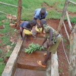 The Water Project: Mahanga Community -  Children Cleaning The Spring Area