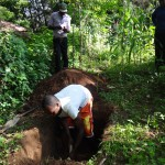 The Water Project: Murumba Community -  Digging A Latrine Pit