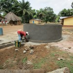 The Water Project: Ponka Village -  Building Well Pad