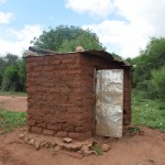 The Water Project: Ikulya Community A -  Household Latrine