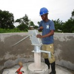 The Water Project: Sumbuya Community, Quarry Road -  Pump Installation