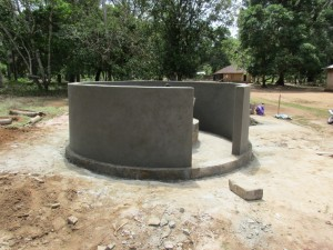 The Water Project:  Building Well Pad