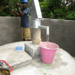 The Water Project: Rogbere Community -  Pump Installation