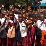 The Water Project: Bukura Primary School -  Students Excited About A Project