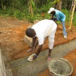 The Water Project : 52-sierraleone5105-building-the-new-well-pad