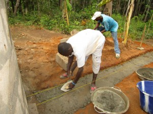 The Water Project:  Building The New Well Pad