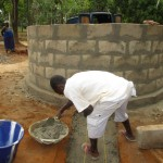 The Water Project: Mapeh Community -  Building The New Well Pad