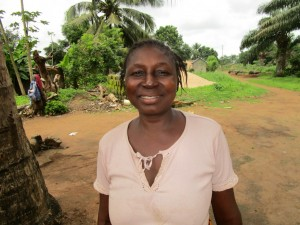 Christiana Dambo, discussing her newly donated water project in Sierra Leone