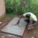 The Water Project: Visiru Community, Kitinga Spring -  Sanitation Platform