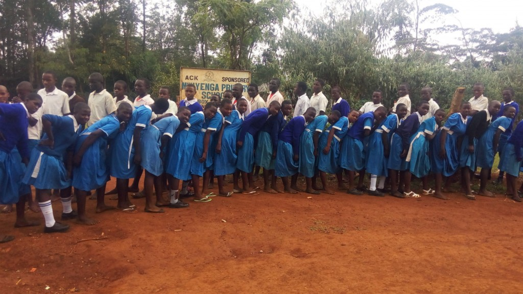 The Water Project : 1-kenya4673-posing-at-school-gate