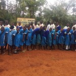 The Water Project: Mwiyenga Primary School -  Posing At School Gate