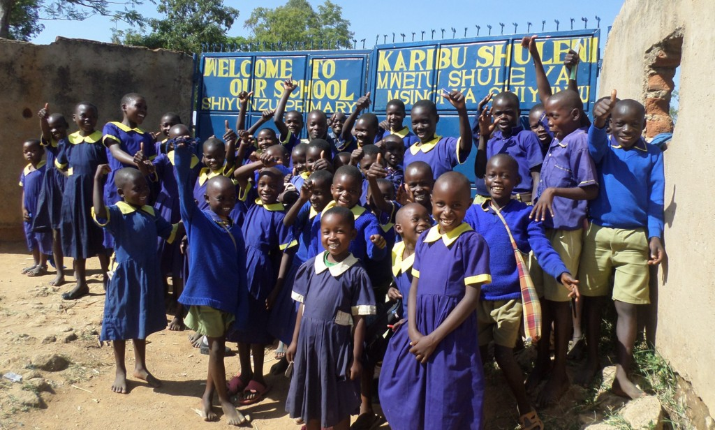 The Water Project : 1-kenya4691-students-posing-at-school-gate