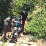 The Water Project: Shitoto Community, Abraham Spring -  Crossing The Stream To Get To Training