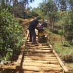 The Water Project : 1-kenya4741-crossing-a-bridge-to-the-village