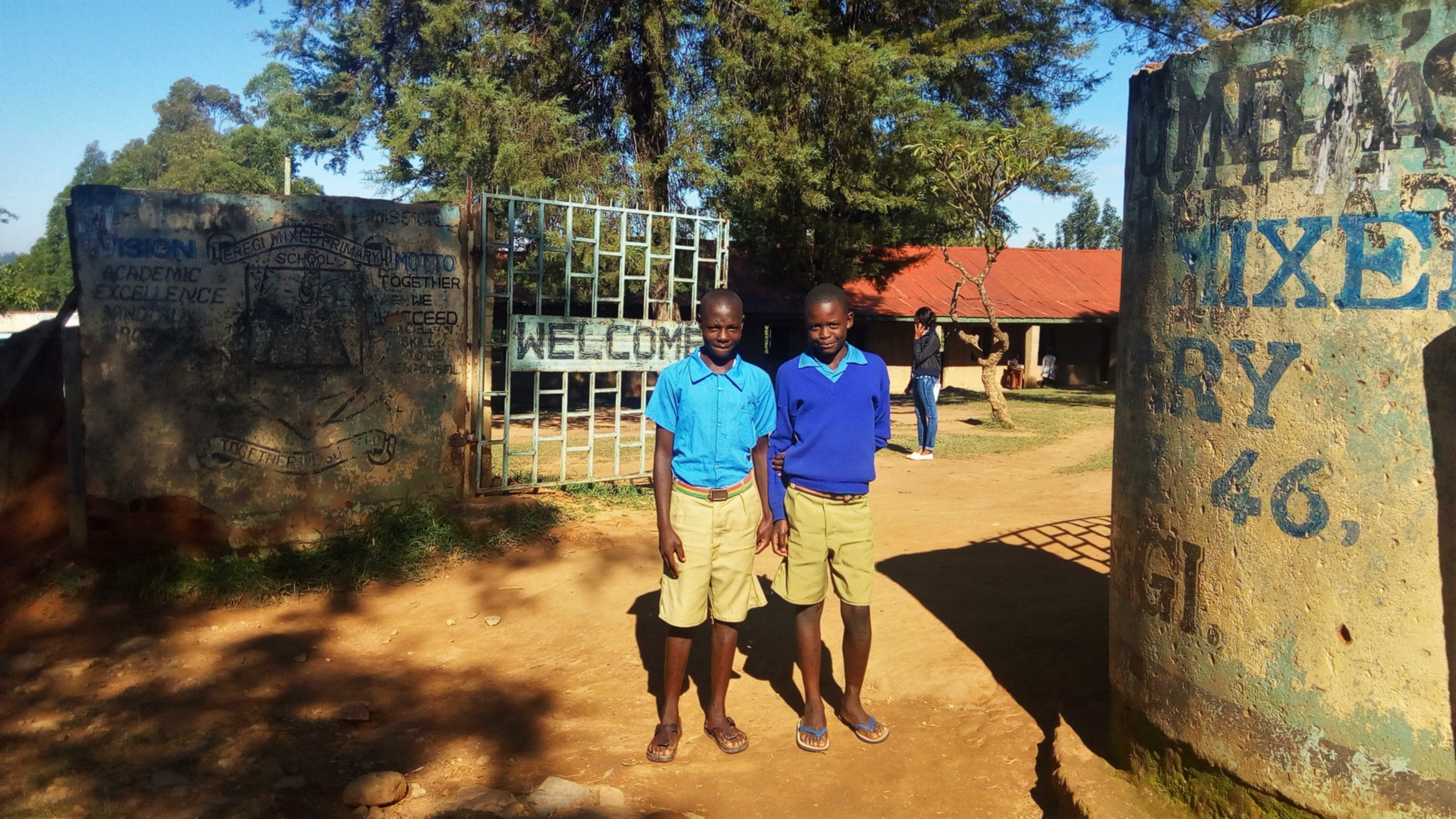 The Water Project : 1-kenya4829-school-entrance