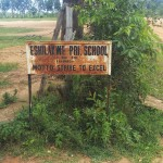 The Water Project: Eshilakwe Primary School -  School Sign