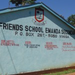 The Water Project: Friends Emanda Secondary School -  School Name