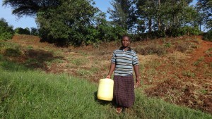 The Water Project:  Mrs Makale Heading To The Spring