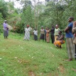The Water Project: Lugango Community, Lugango Spring -  Meeting The Community