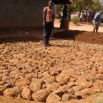 The Water Project: Eshisuru Primary School -  Tank Foundation