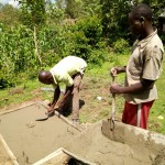 The Water Project: Shikoti Community -  Sanitation Platform Construction