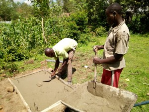 The Water Project : 10-kenya4717-sanitation-platform-construction