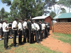 The Water Project : 10-kenya4834-latrine-lines