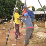 The Water Project: Benke Community, Brima Lane -  Drilling
