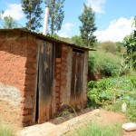 The Water Project: Kaani Community E -  Mulatya Latrines