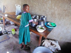 The Water Project:  Student Helping In The Kitchen