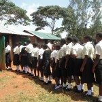 The Water Project: Evojo Secondary School -  Latrine Lines