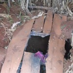 The Water Project: Ebuhando Community -  Latrine Floor