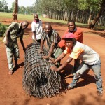 The Water Project : 12-kenya4666-mesh-to-fortify-tank-walls