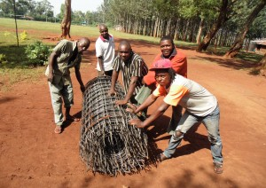 The Water Project:  Mesh To Fortify Tank Walls