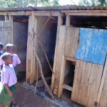 The Water Project: Chandolo Primary School -  Boys Line Up For Latrines