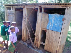 The Water Project:  Boys Line Up For Latrines