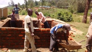 The Water Project:  Artisans And Locals Working On Latrines