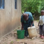 The Water Project: Kaani Community B -  Household Water Containers