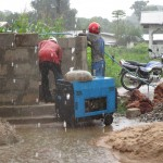 The Water Project: Benke Community, Brima Lane -  Working In The Rain