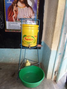 The Water Project:  Teacher Hand Washing Station