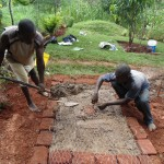 The Water Project : 15-kenya4719-sanitation-platform-construction