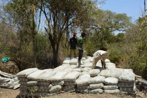 The Water Project : 15-kenya4758-sand-dam-construction