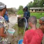 The Water Project: Benke Community, Brima Lane -  Yield Test