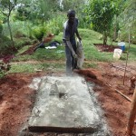 The Water Project: Nyira Community, Ondiek Spring -  Sanitation Platform Construction