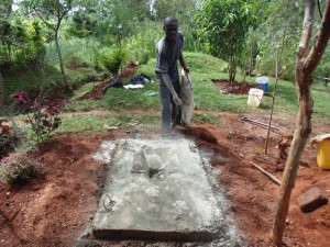 The Water Project : 16-kenya4719-sanitation-platform-construction