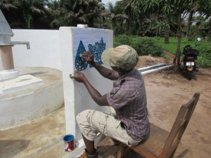 The Water Project:  Painting The Logo