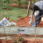 The Water Project : 17-kenya4719-sanitation-platform-construction
